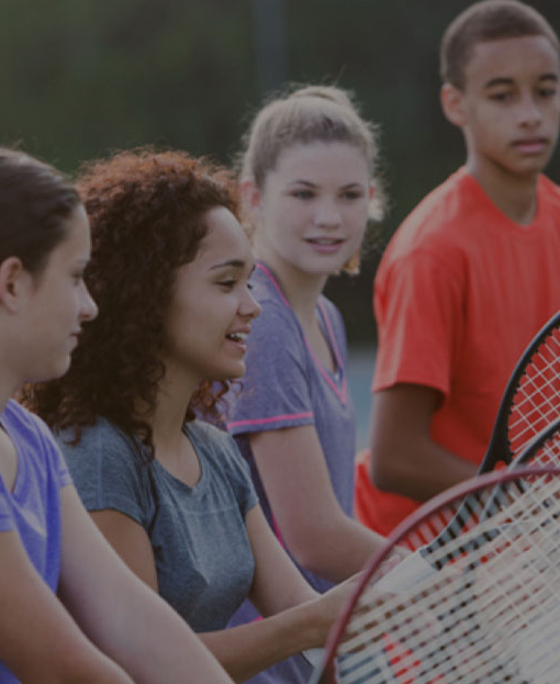 Students at a Tennis clinic
